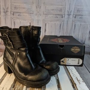 Harley Davidson slouch Womens boots shoes western